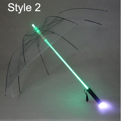 clear umbrella with lights wholesale