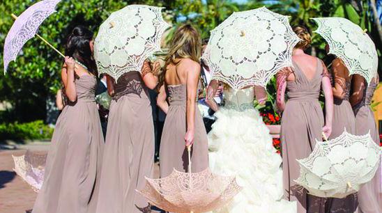 Wedding Umbrella Manufacturer Import White Umbrella Parasols In