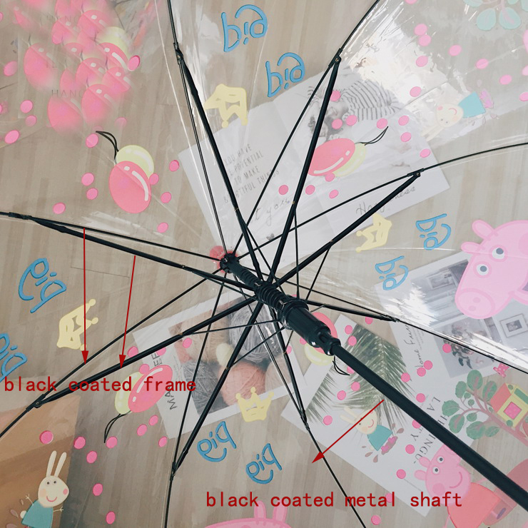 umbrella black coated metal shaft