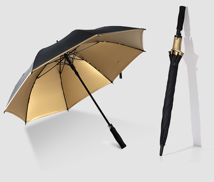 golden coated umbrella fabric
